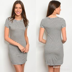 Dresses & Skirts - Grey And Black T Shirt Dress | MAKE A OFFER